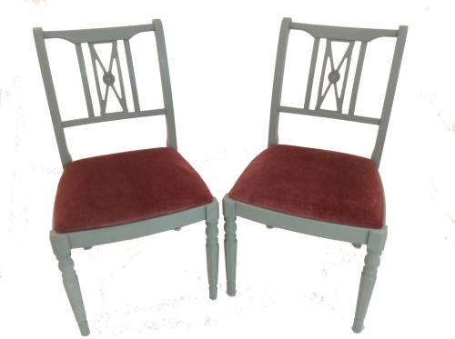 Grey and Blush Boudoir Painted Chairs