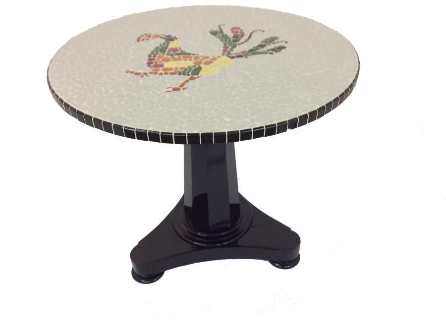 Tiled Cockerel Table