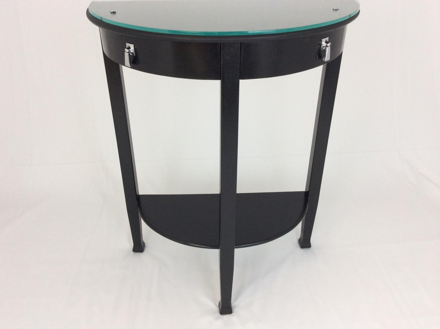 Demilune Black Console Table