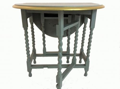 Grey and Gilded Painted Table
