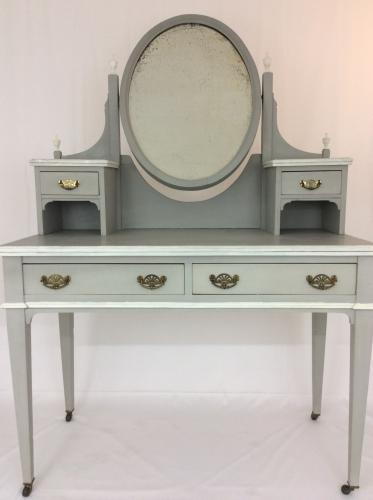 Grey and White Painted Dressing Table