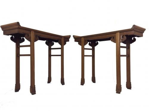 Pair of Chinese Hardwood Altar Tables