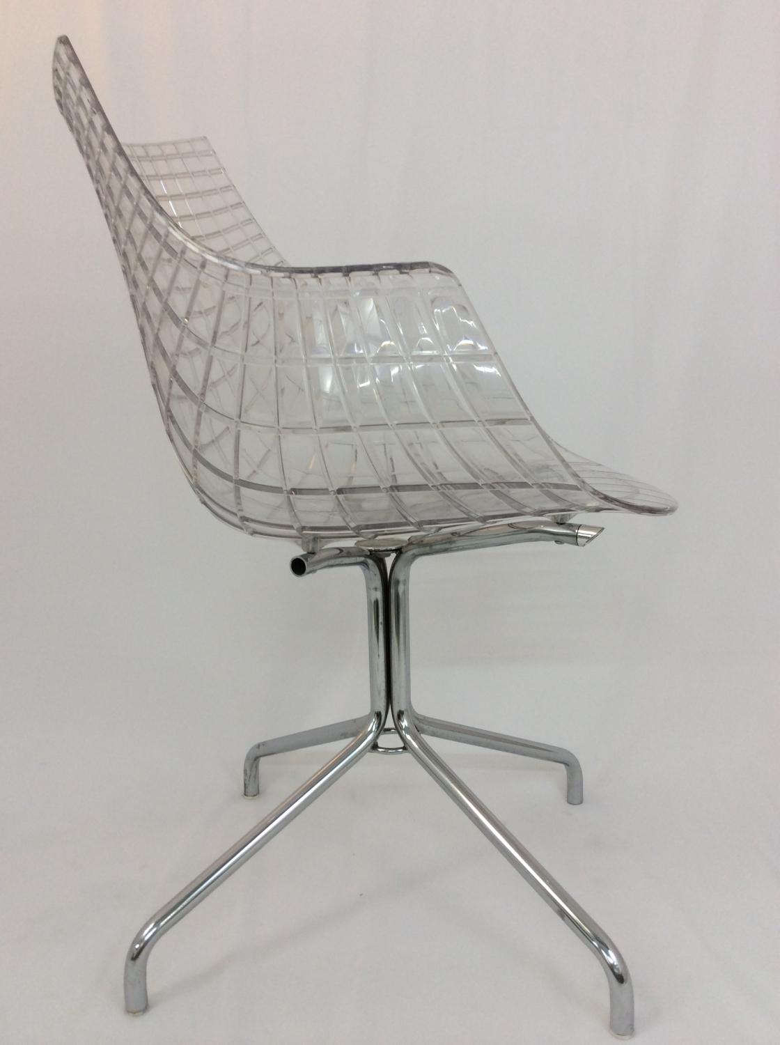vintage perspex chair in sold recently