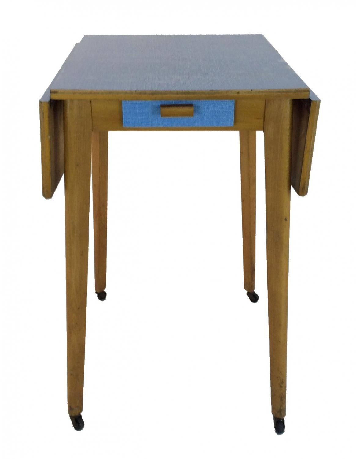 Retro Bright Blue Formica Table
