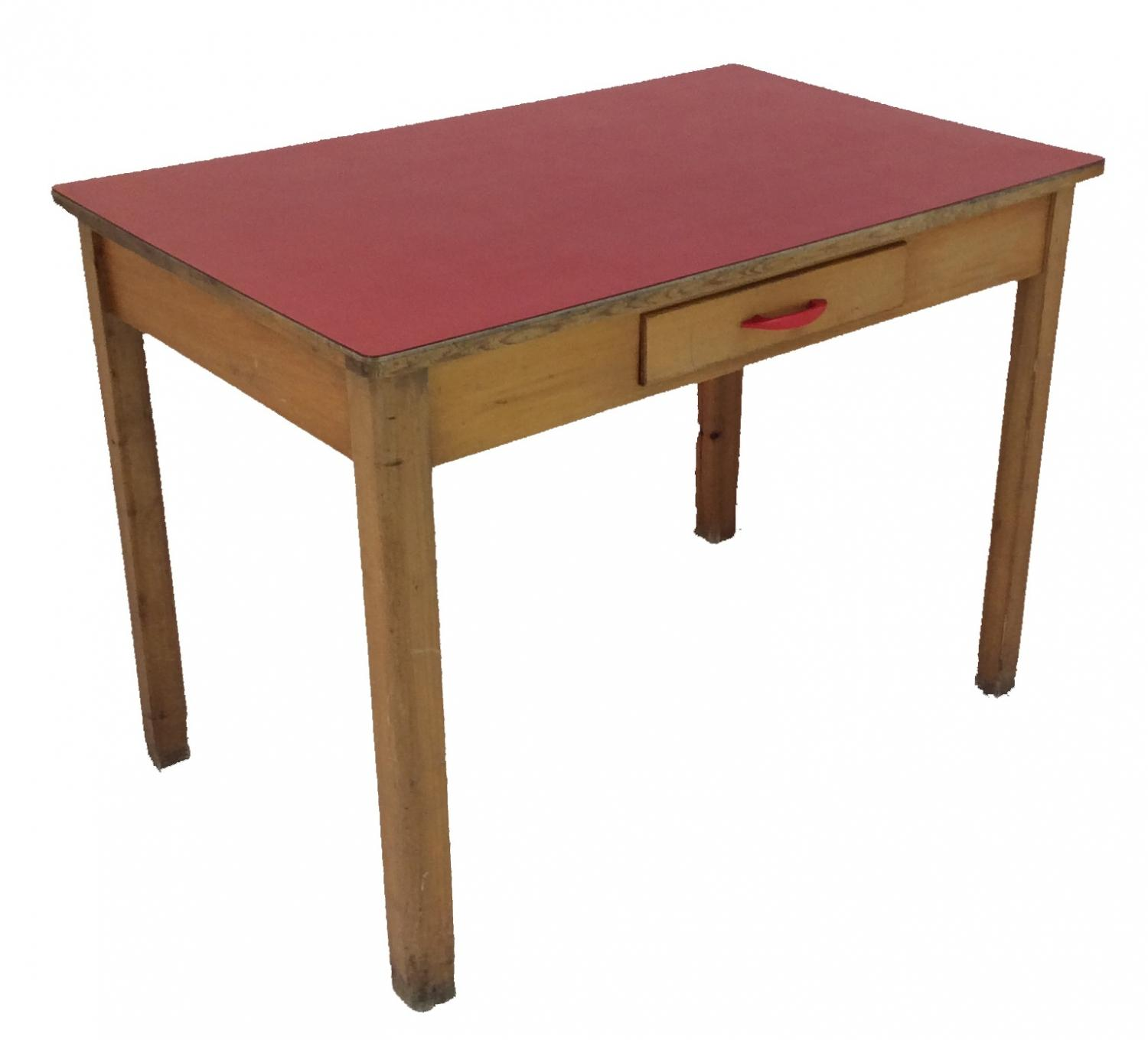 Retro Red Formica Table In SOLD RECENTLY