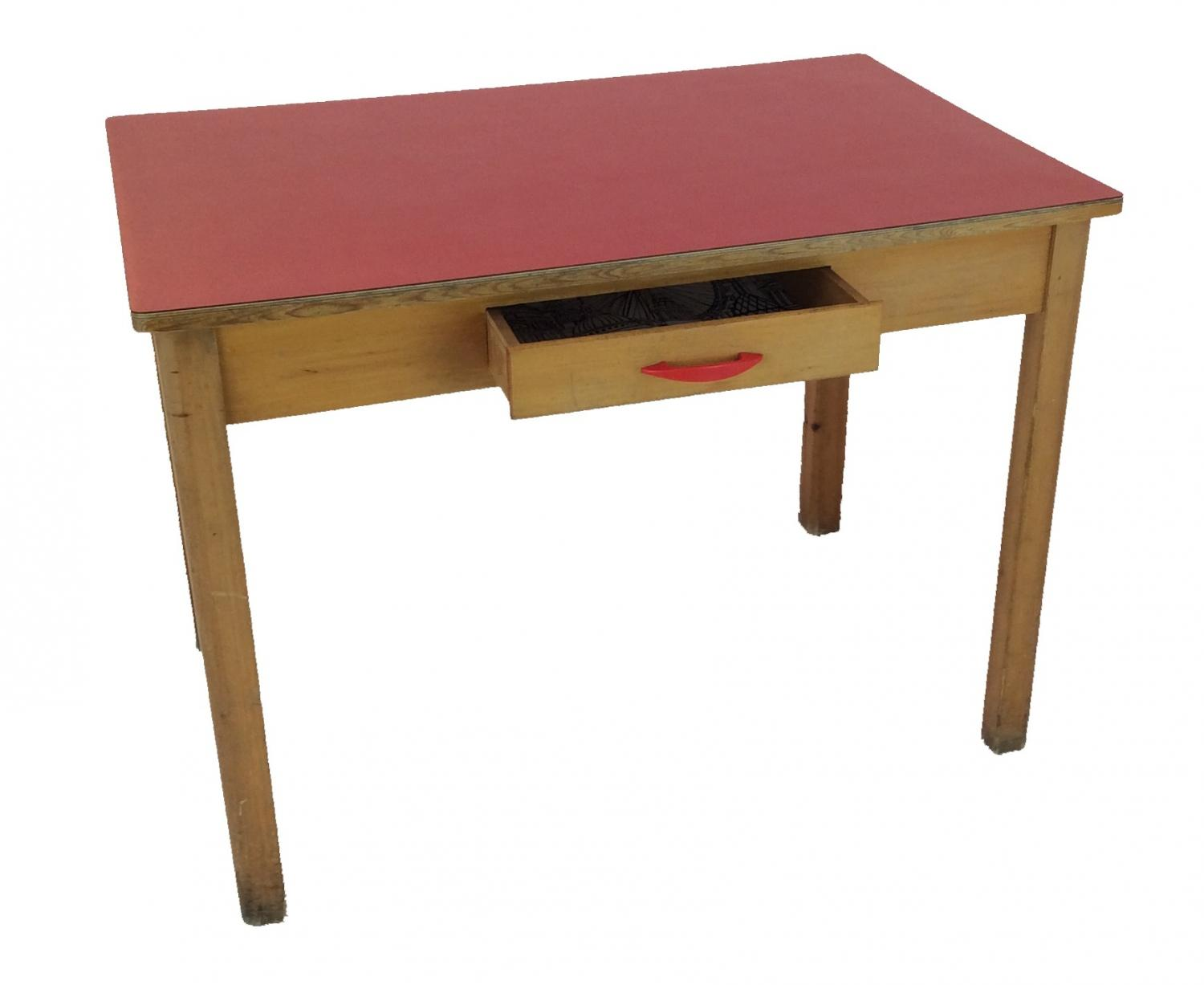 Retro red formica table in sold recently for Formica table