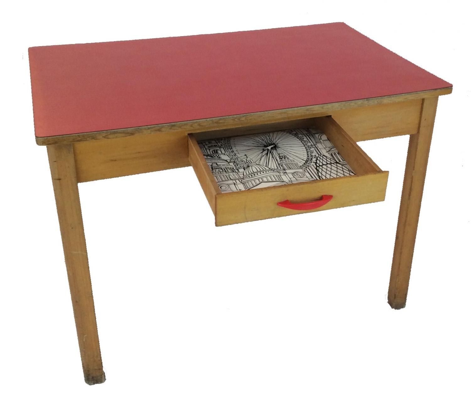 Retro red formica table in sold recently - Retro formica table ...