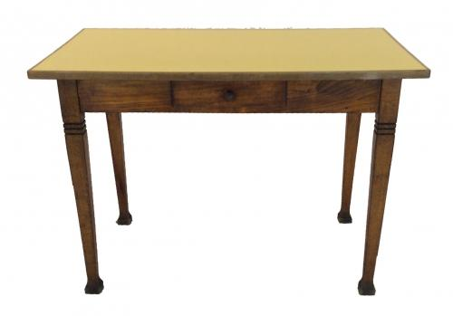 Vintage Belgian Yellow Formica Table