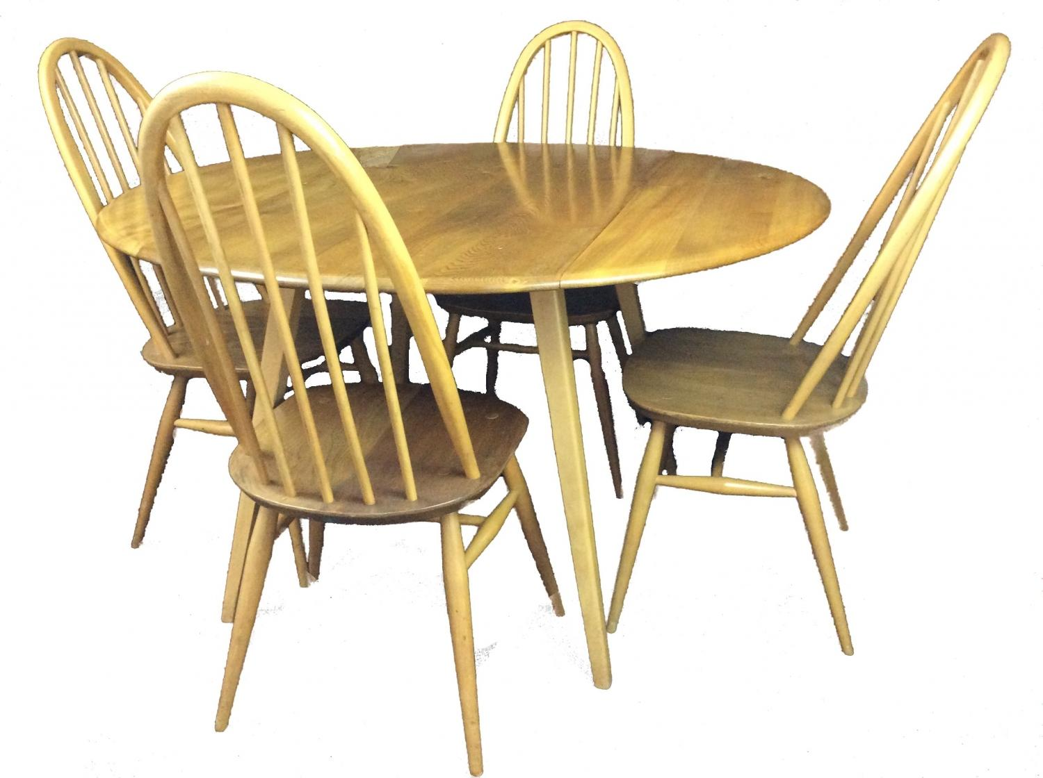 Ercol Dropleaf Dining Table And Chairs In Sold Recently