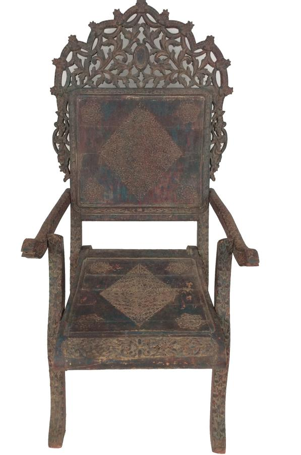 Rajasthani Wooden Armchair