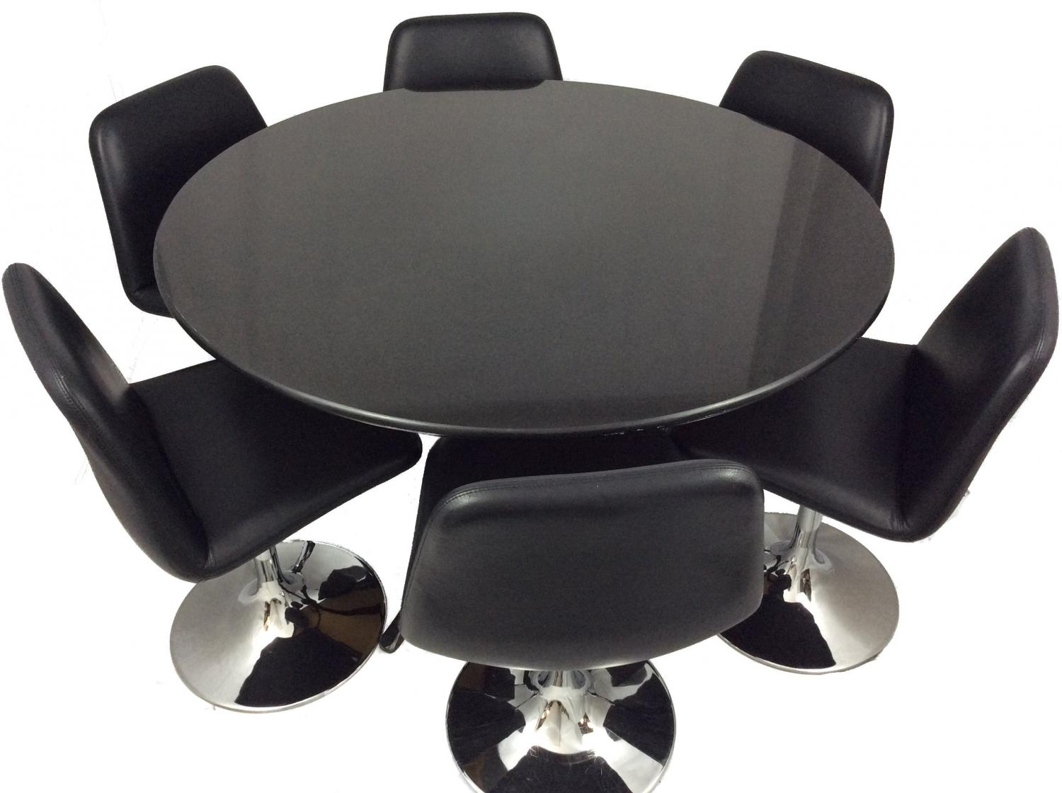 Luxury Leather Dining Chairs and Table