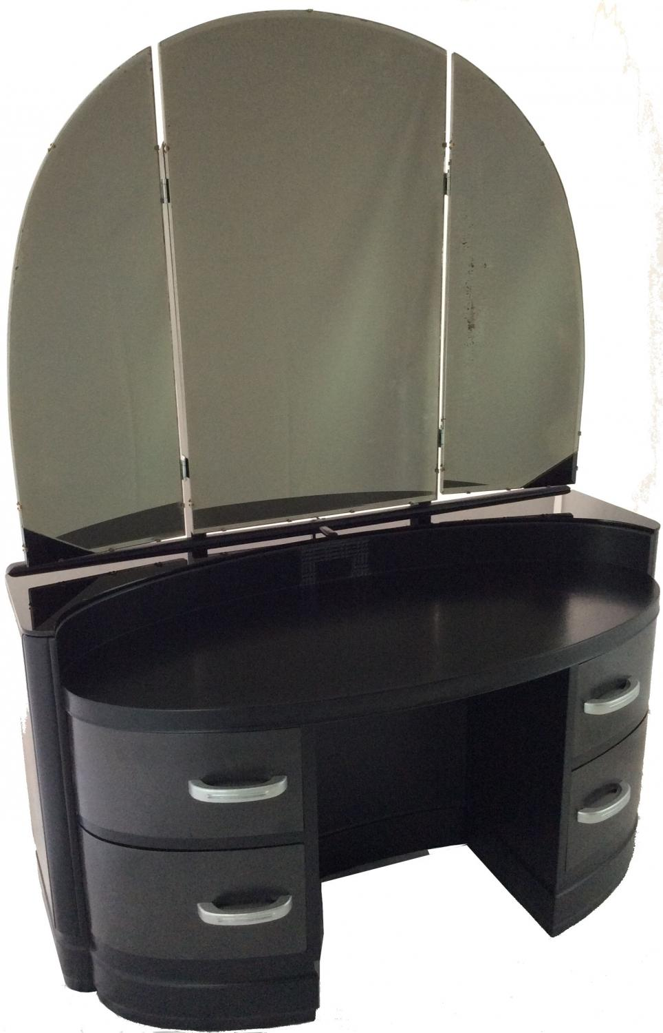 Black and Silver Deco Dressing Table