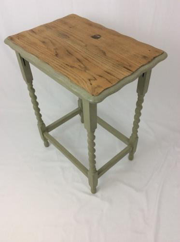 Oak Painted Table Piecrust Top