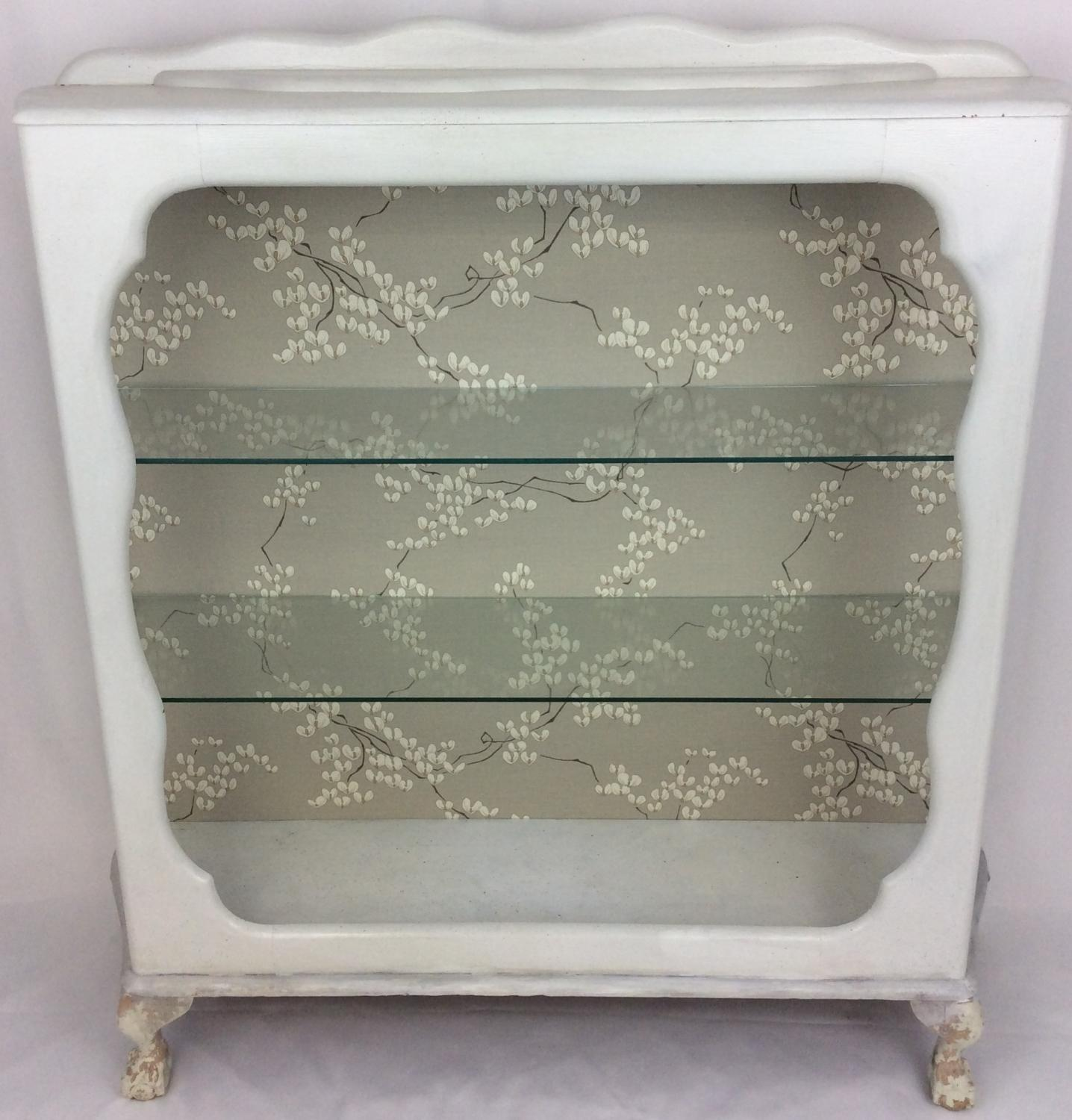1920s Painted Glazed Cabinet