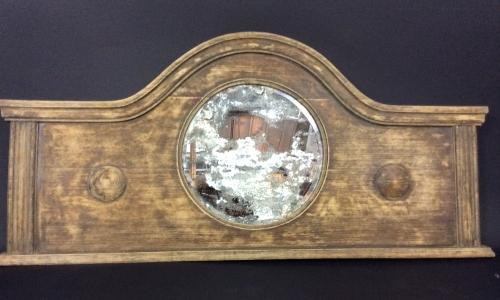 Vintage Distressed Overmantel with Mirror