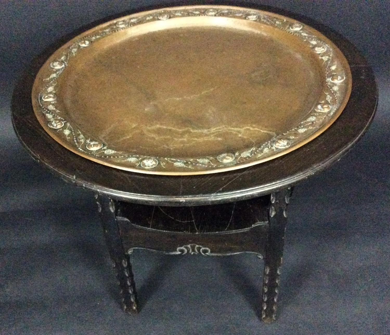 Decorative Arts and Crafts Table + Copper