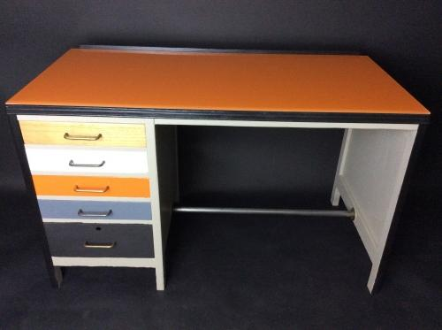Vintage Desk with drawers and custom top