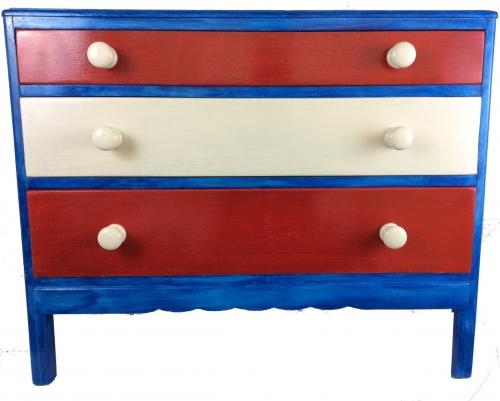 Red White and Blue Chest