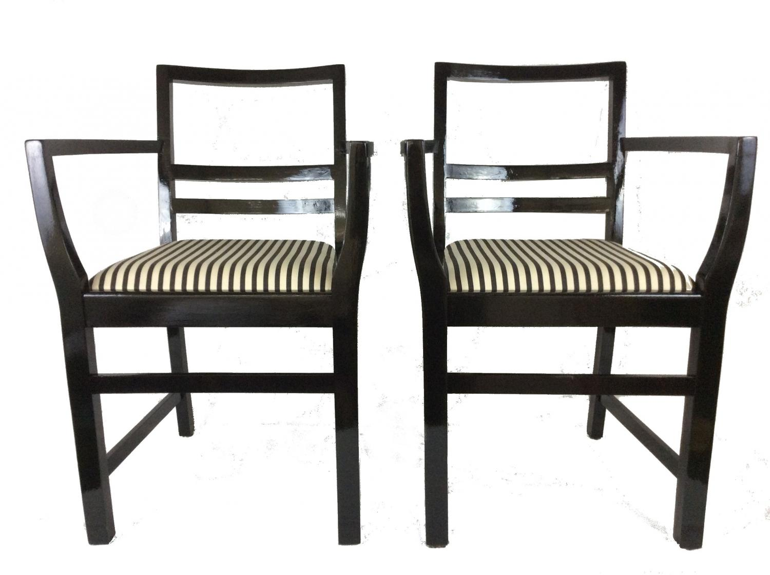 Monochrome striped Chairs