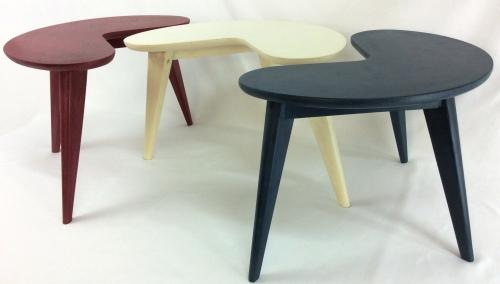 Tricolour Retro Kidney Bean Coffee Tables