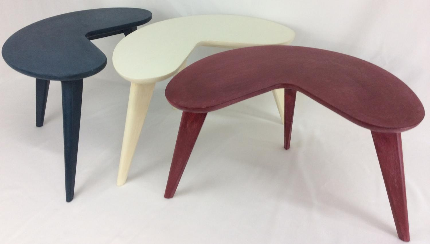 Mid-Century Modern Coffee Table Kidney Bean in Walnut