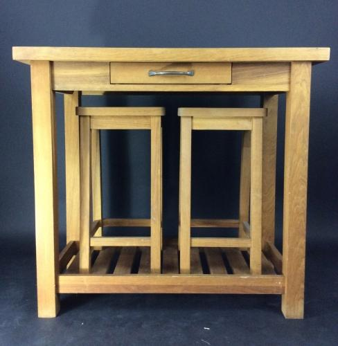 Vintage Oak Refectory Breakfast Console