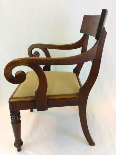 William IV Mahogany Back Bar Chair