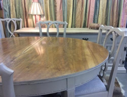 Painted Waring & Gillow Table + chairs