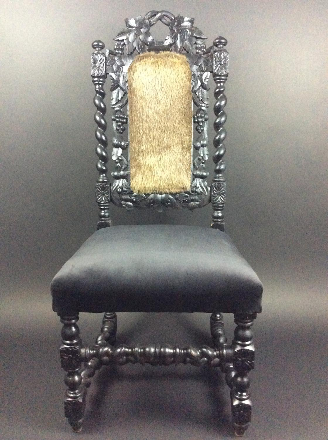 Wolf Hall Ebonised Chair