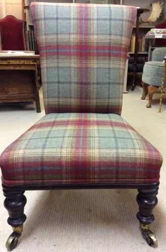 Victorian Nursing Chair in Tweed