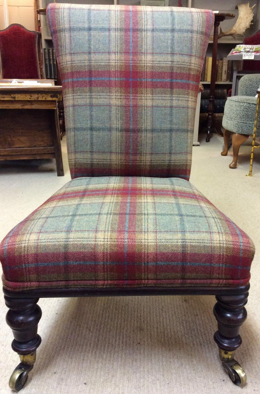 victorian nursing chair in tweed - Nursing Chair