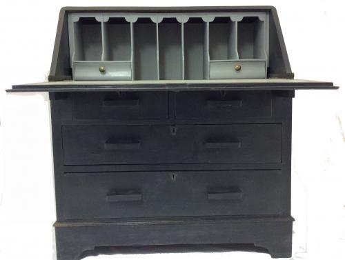 Grey painted Bureau