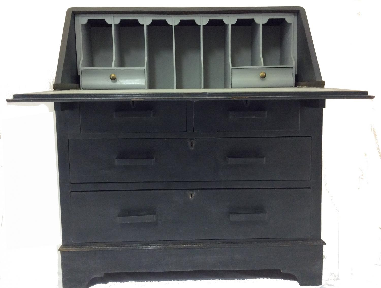 Grey painted Bureau