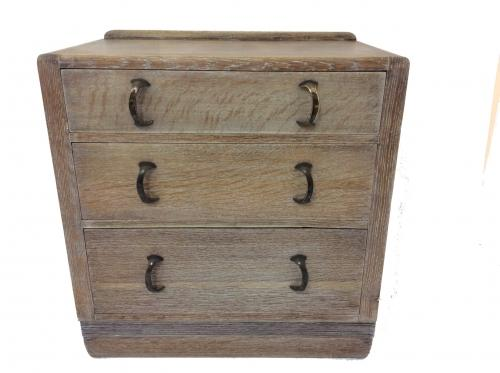 Art Deco Limed Oak Chest of drawers