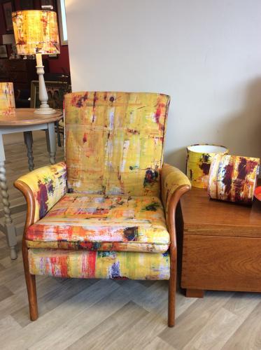 Unique Liz Harwood Upholstered Parker Knoll Armchair