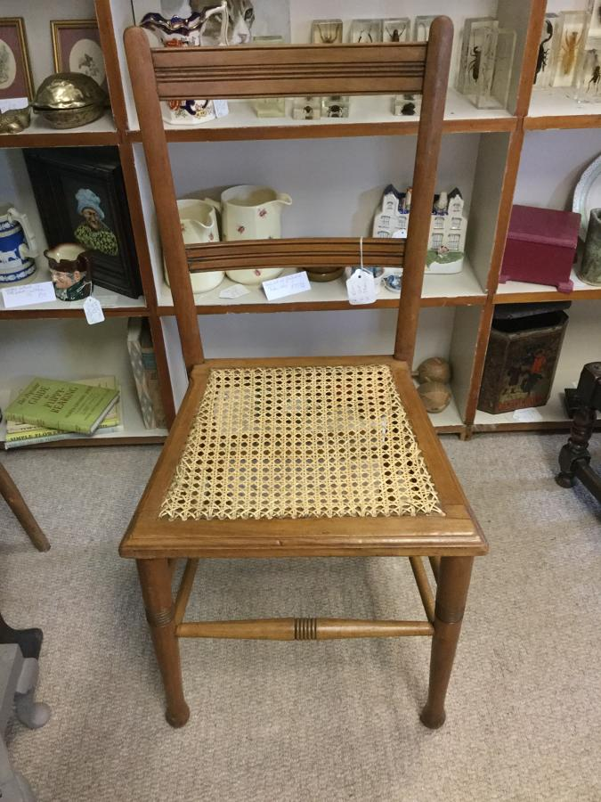 Arts and Crafts Cane Bedroom Chair