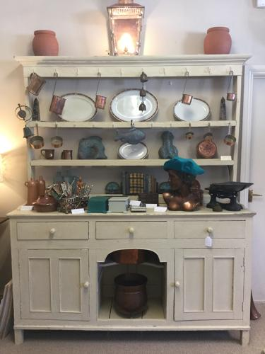 Painted Victorian Dresser with Dog Kennel