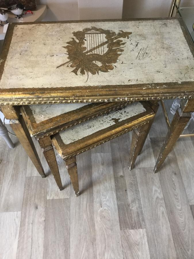 Vintage Florentine Gilt Table Nest