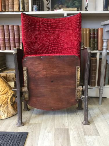 Reupholstered Vintage Theatre Seat