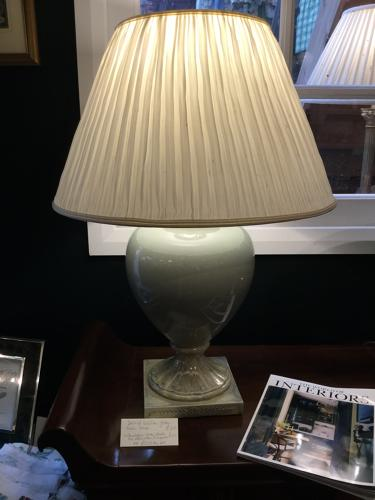 Pair of Valsan Green Table Lamps