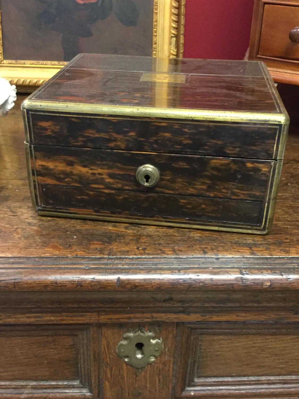 19th Cent Coromandel Jewellery Box