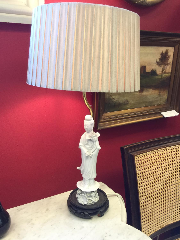 Pair of Vintage Blanc de Chine Lamps