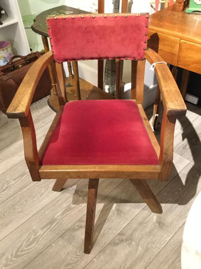 Oak Swivel Chair