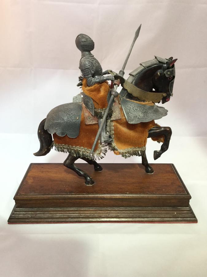 Vintage Knight on Horseback