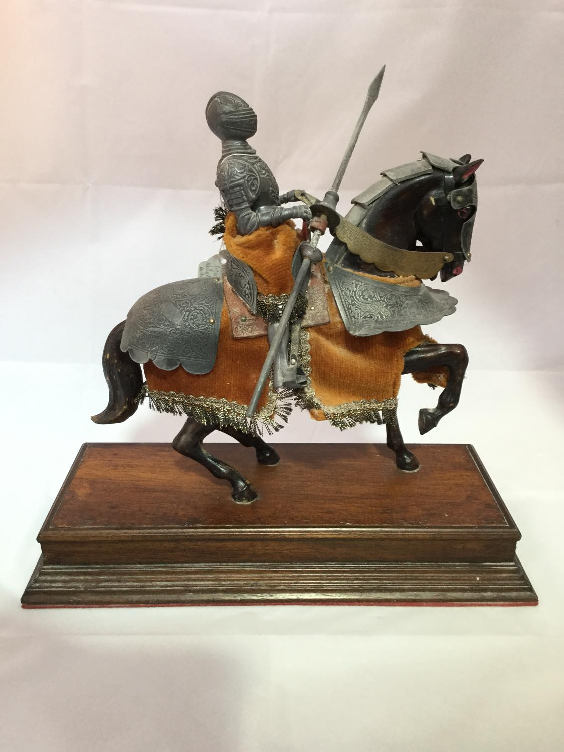 Vintage Knight on Horseback