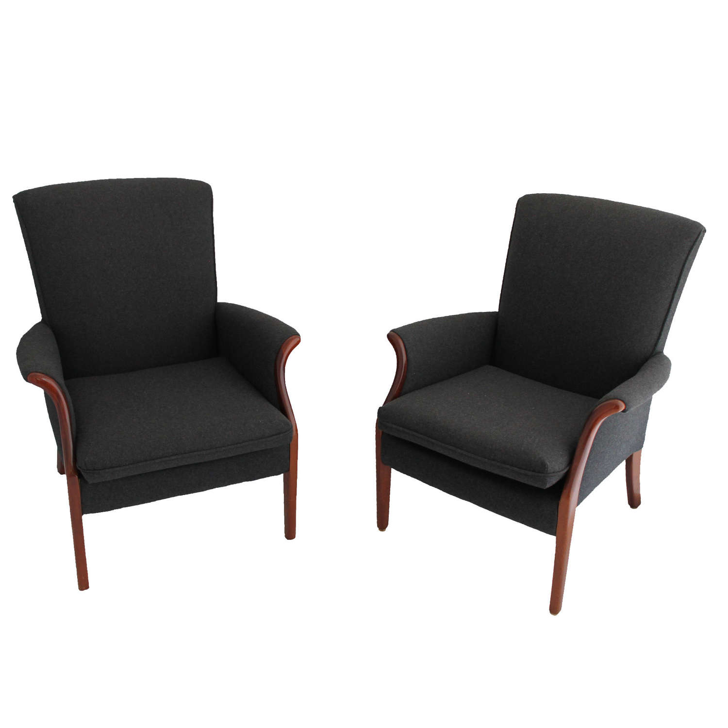 Pair of Grey Flannel Parker Knoll Chairs