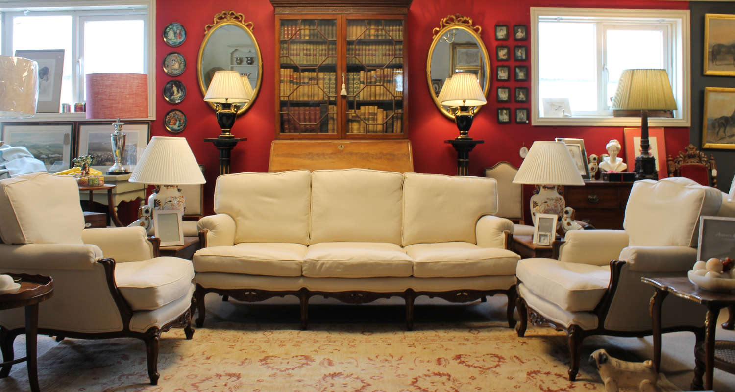 French Louis style Walnut Sofa Suite