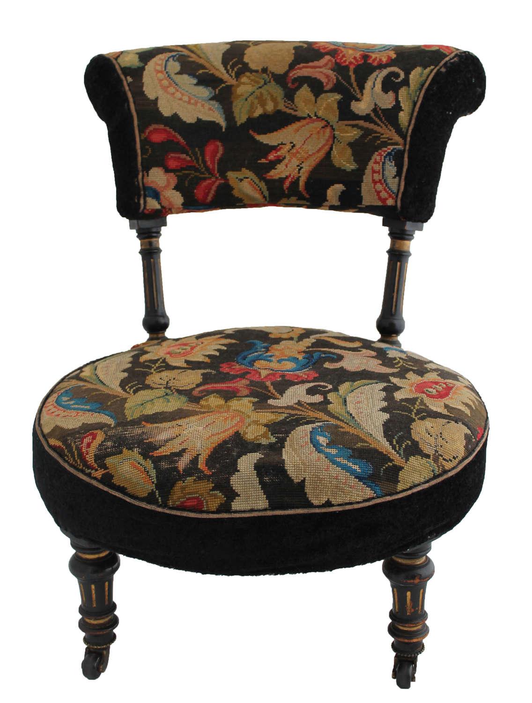 Victorian aesthetic period tub chair