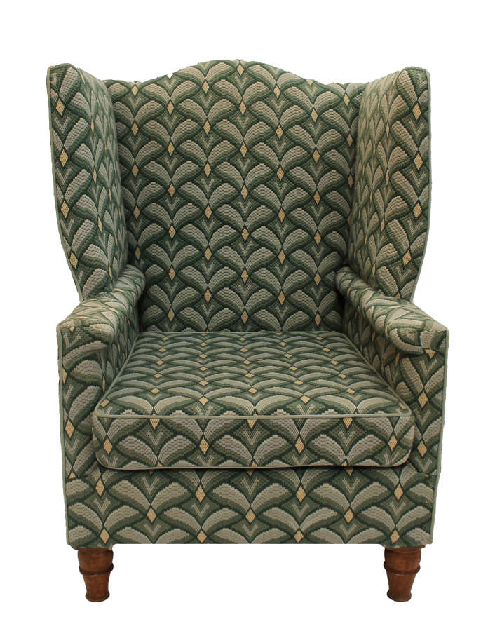 19th Century Confessional Chair on Low Turned Legs