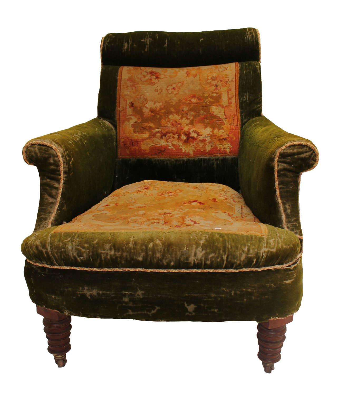 Victorian Carpet Armchair- Napoleon Style